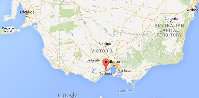 Where is Geelong on map of Victoria
