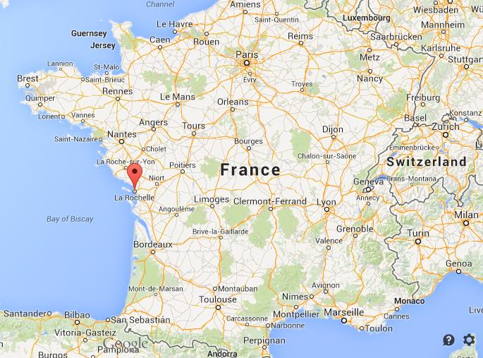 Where is La Rochelle on map of France World Easy Guides