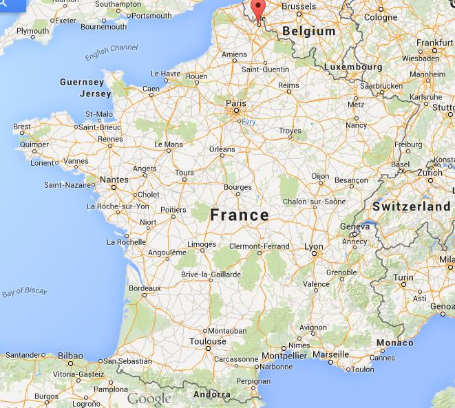 Where is Lille on map of France World Easy Guides