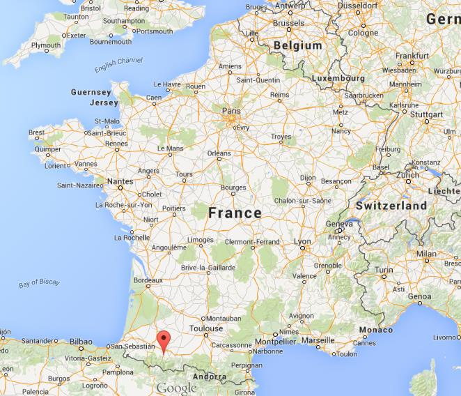 Where is Lourdes on map of France