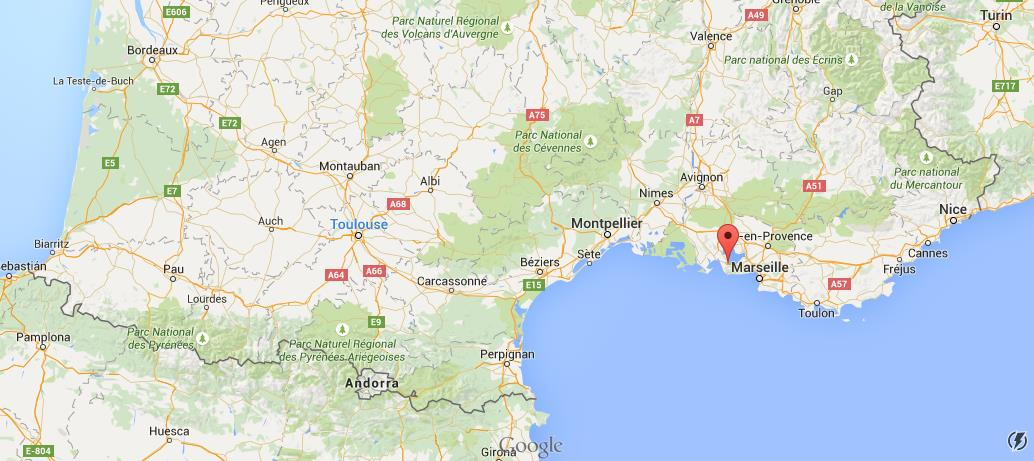 Where is Martigues on map South France World Easy Guides