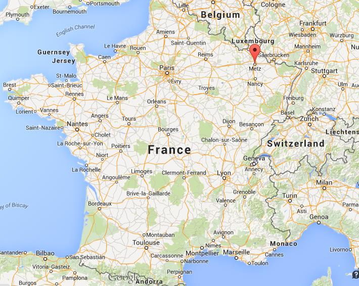 Where is Metz on map of France World Easy Guides