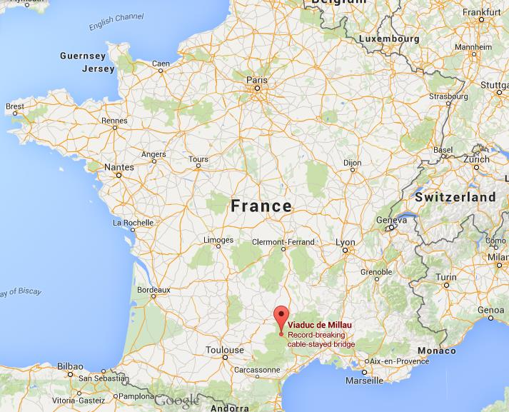 Where is Millau on map of France World Easy Guides