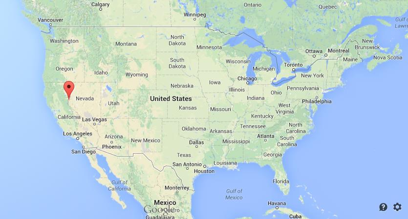 Where is Reno on map of USA World Easy Guides