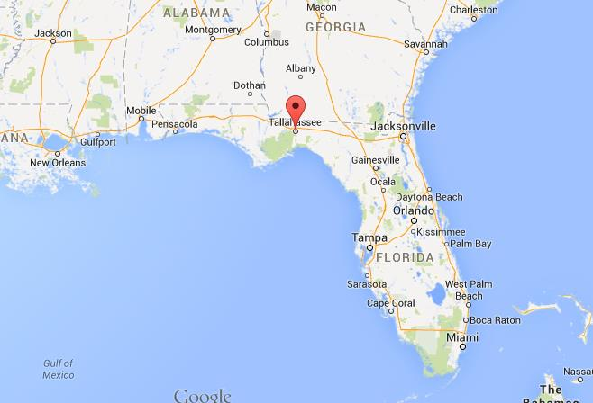 Where is Tallahassee on map Florida