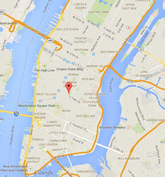 Where is Union Square on map of Manhattan