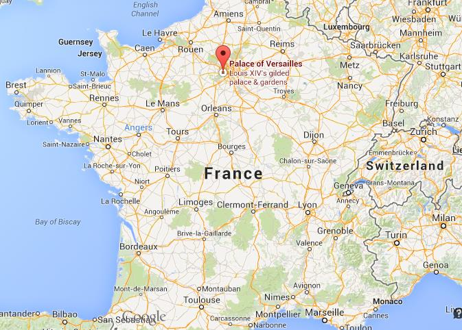 Where is Versailles on map of France World Easy Guides
