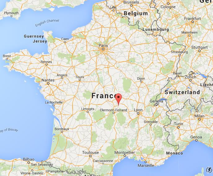 Where Is Vichy On Map France