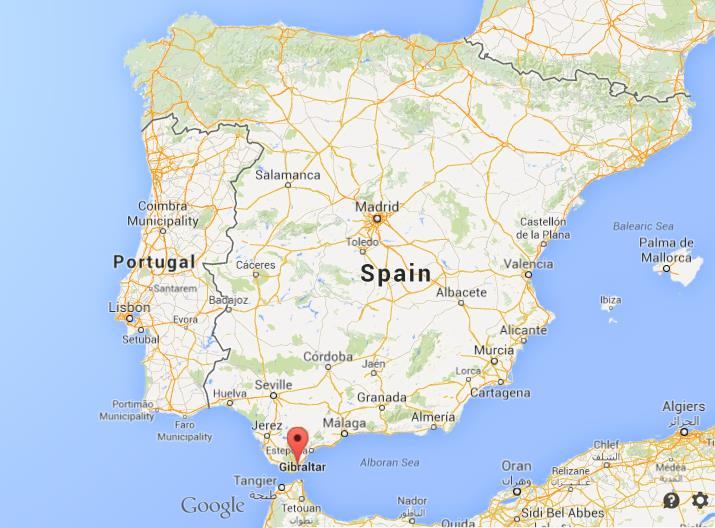 Algeciras On Map Of Spain World Easy Guides