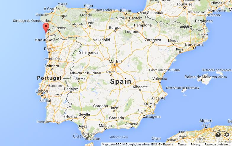 Baiona On Map Of Spain World Easy Guides