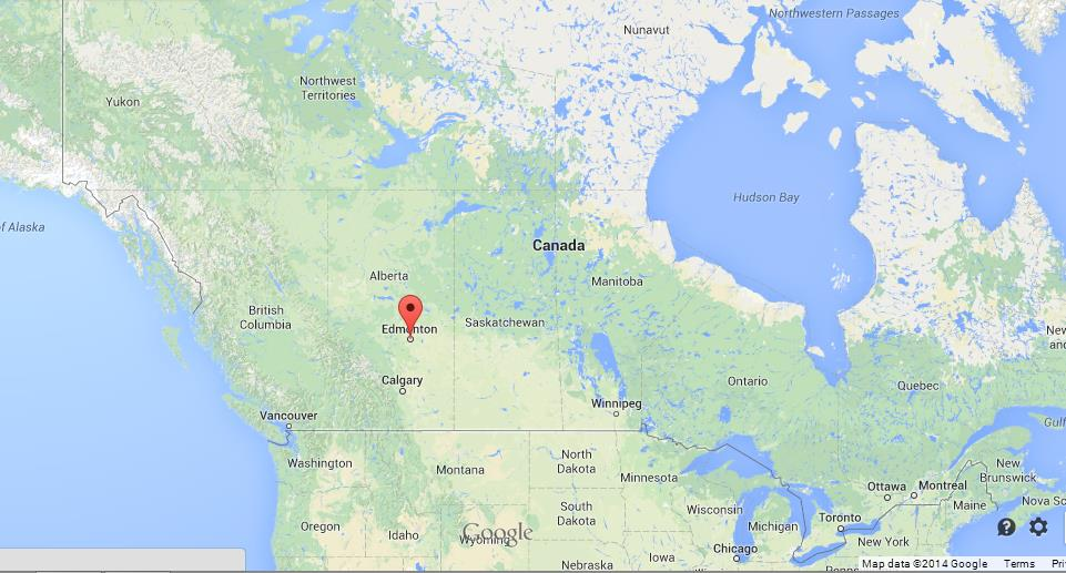 Edmonton Canada Map Edmonton on Map of Canada