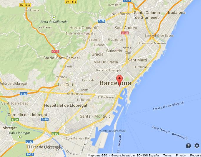 el barri gotic on map of barcelona world easy guides