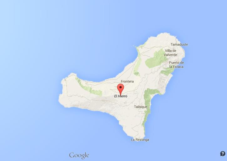 Map of El Hierro World Easy Guides