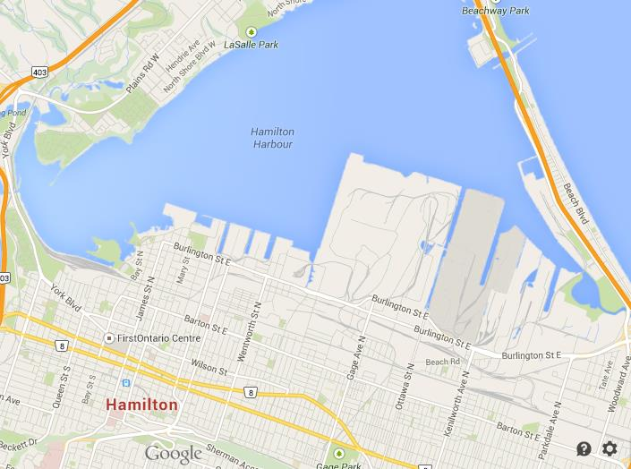 Map of Hamilton Downtown World Easy Guides