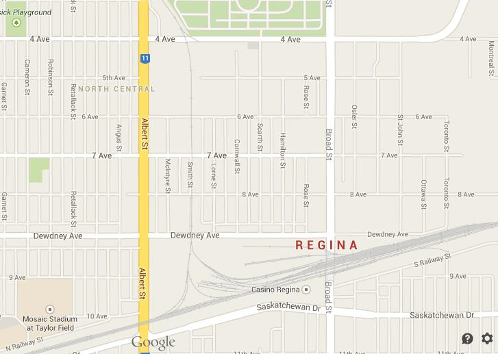 Map of Regina Downtown World Easy Guides