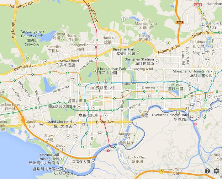 Map of shenzhen gumiabroncs Choice Image