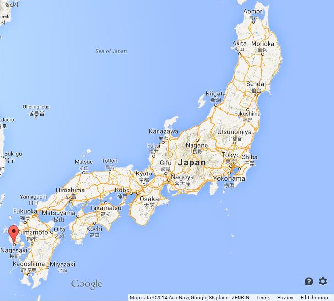 Nagasaki On World Map.Hiroshima Prefecture Map Bellissimonyc Com