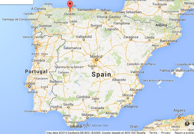 Map Of Spain Oviedo.Oviedo On Map Of Spain