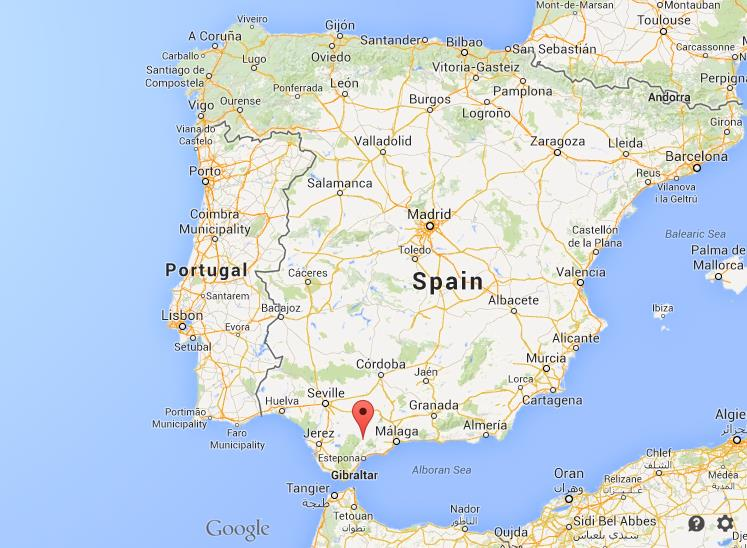 Ronda on map of Spain World Easy Guides