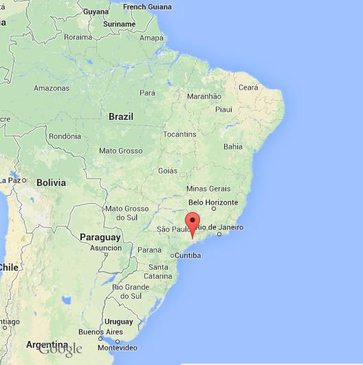 Sao Paulo on Map of Brazil