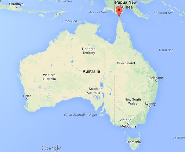 Map Of Australia And The Torres Strait Islands