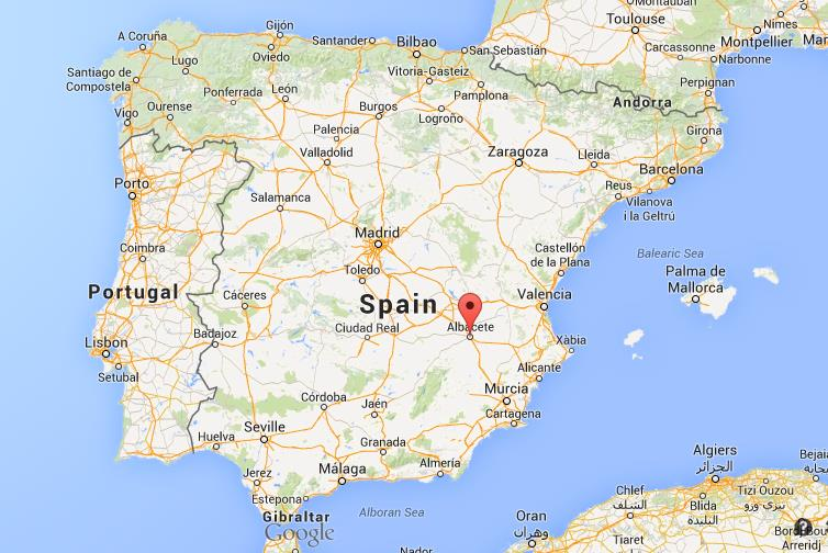 Where is Albacete map Spain