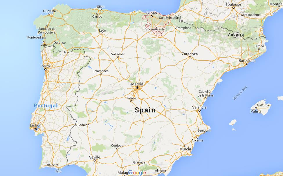 Where is Basque Country on map Spain