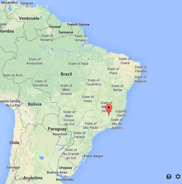Where is Belo Horizonte on map Brazil