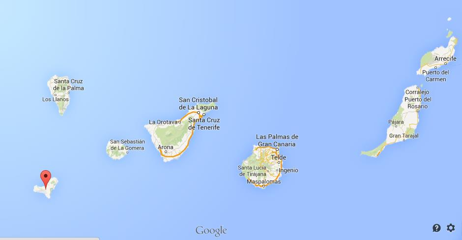 Where is El Hierro on map of Canary Islands World Easy Guides