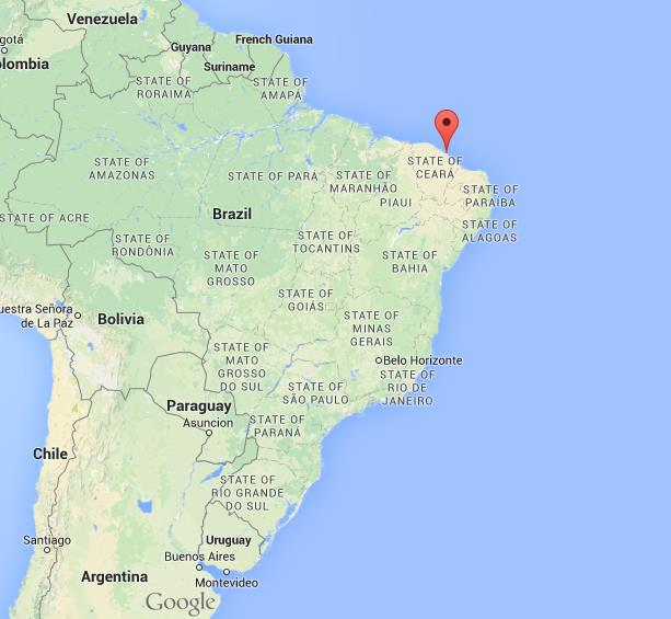 Where is Fortaleza on map of Brazil World Easy Guides