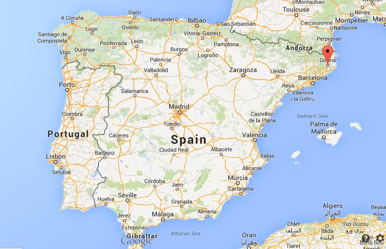 Where is Girona map Spain