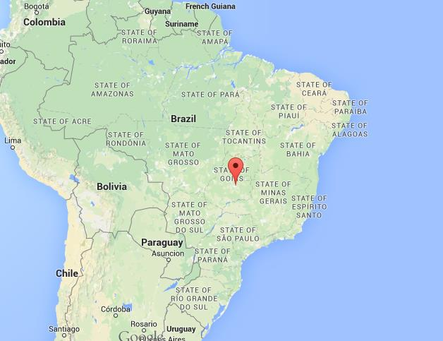 Where is Goiania on map Brazil