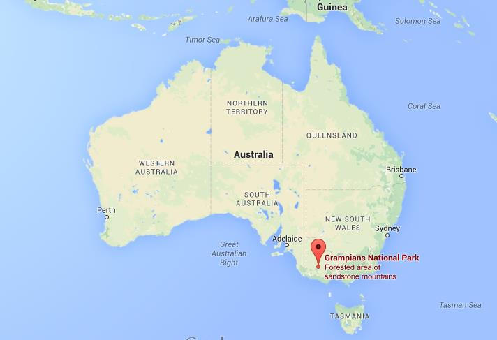 Grampians Australia  City new picture : Where is Grampians National Park on map Australia | World Easy Guides