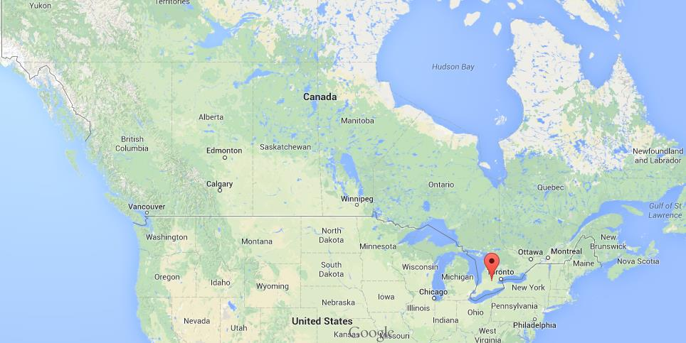 Easy Map Of Canada.Where Is Kitchener On Map Of Canada