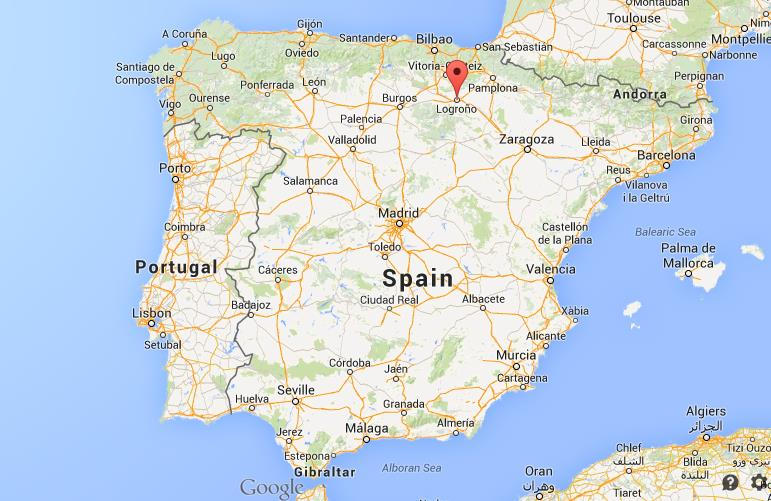 Where is Logroño map Spain