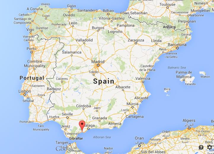 Where is Marbella on map of Spain