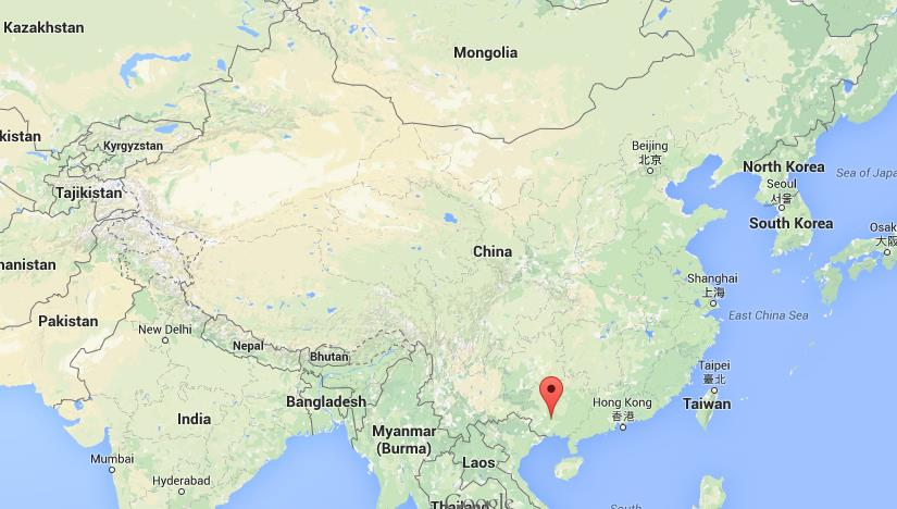 Where Is Nanning On Map China on tanzania location map