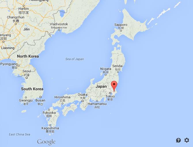 Where is Narita on map of Japan
