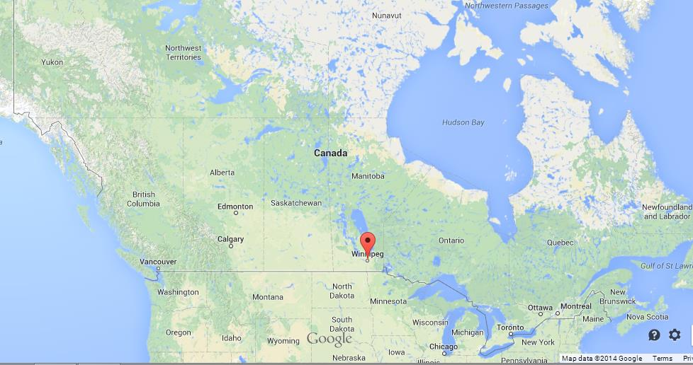 Winnipeg On Map Of Canada