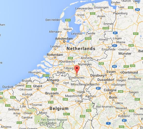 Eindhoven on Map of Netherlands