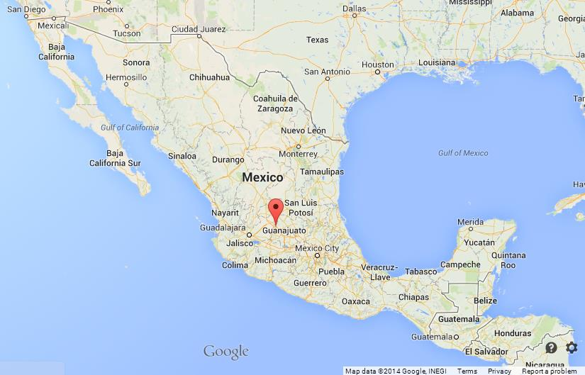 Leon on Map of Mexico World Easy Guides