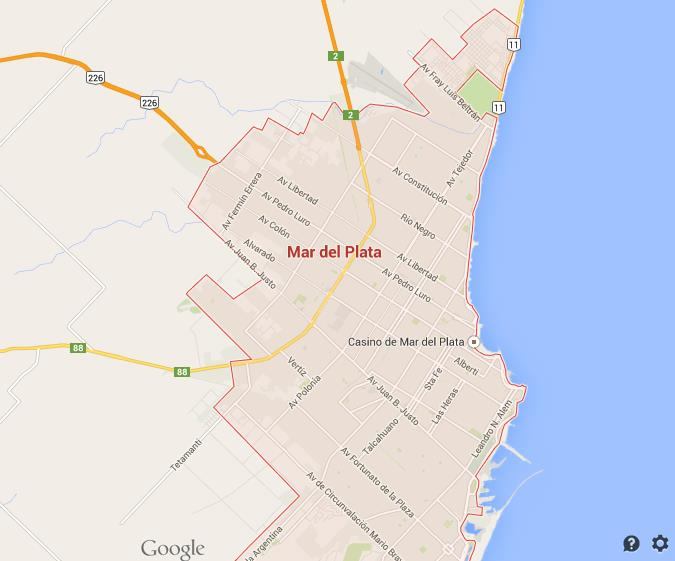 Map of Mar del Plata World Easy Guides