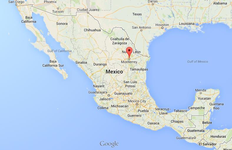 Monterrey on Map of Mexico World Easy Guides