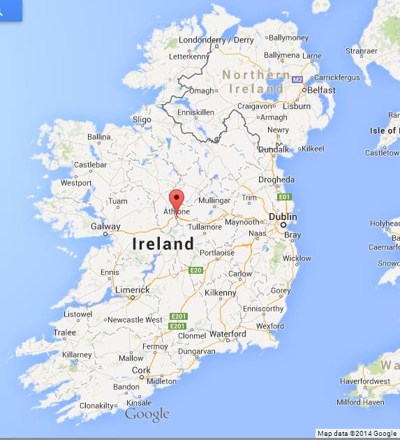 Athlone on map of ireland world easy guides where is athlone on map of ireland gumiabroncs Choice Image