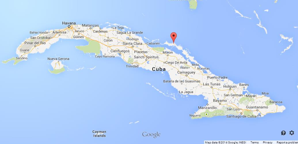 Cayo Coco on Map of Cuba