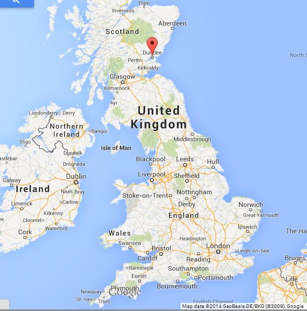 Dundee on Map of UK World Easy Guides
