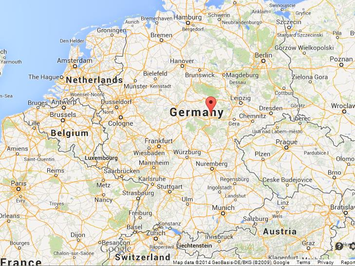 Erfurt On Map Of Germany World Easy Guides