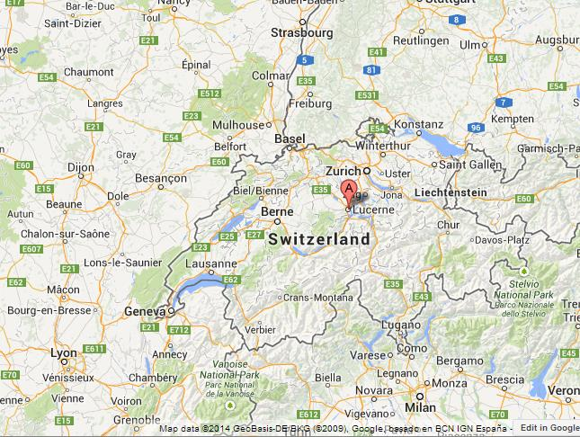 Lucerne on Map of Switzerland World Easy Guides