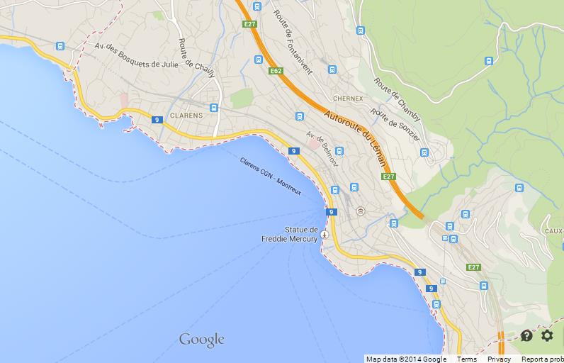 Map of Montreux World Easy Guides