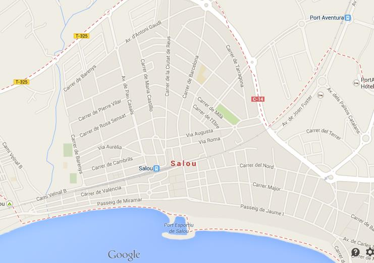 Map Of Spain Showing Salou.Map Of Salou